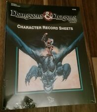 D&D- TSR DUNGEONS & DRAGONS CHARACTER RECORD SHEETS SELTEN NEU OVP