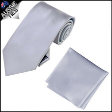 CHRISTIAN VALENTINO MENS 8.5CM TIE AND POCKET SQUARE handkerchief CHOOSE COLOUR