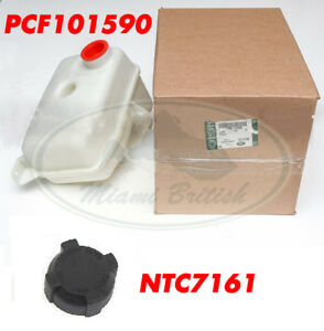 LAND ROVER RADIATOR EXPANSION TANK + CAP DISCO RR CL DEF PCF101590 NTC7161 OEM