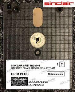 Sinclair Spectrum +3 CP/M CPM Plus System, Mallard BASIC & Utilities Floppy Disk