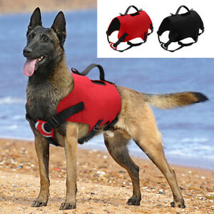 No Pull Nylon Dog Harness Padded Reflective Sport Dog Vest & Easy Control Handle