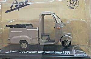 Piaggi ape Italy 1/32 Scale C3 Vespa Calessino 1960 Rome Olympics 3 Wheel Taxi