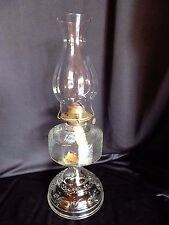 """Clear Glass Oil Lamp with P & A  Eagle Burner 18.5"""" Tall"""