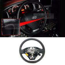 Genuine Red Stitch Leather Steering Wheel For HYUNDAI 2002-2008 Tiburon Tuscani