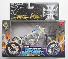2003 Muscle Machines Jesse James CFL RIGID West Coast Choppers WHITE 1:18 NEW