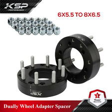 2 Wheel Adapters 6 Lug 55 To 8 Lug 65 Spacers 6x55 To 8x65 2