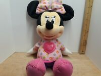 Talking Singing Minnie Mouse Plush Doll 2014 Mattel Disney