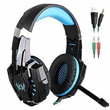 Senhai G9000 3.5mm Game Gaming Headphone Headset Earphone Headband (Blue-G9000)