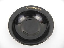 original Guinness Black & Gold Glass Ashtray by Nazeing