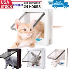 New listing 4 Way Pet Cat Puppy Dog Magnetic Lock Lockable Safe Flap Door Plastic Gate Frame