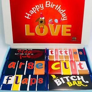 Adults Rude Novelty Naughty Wrapper Chocolate Hamper Gift Box Birthday