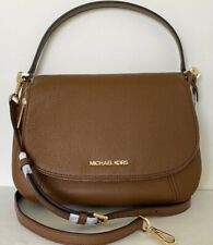 New Michael Kors Bedford Medium Flap Shoulder Bag Leather Luggage