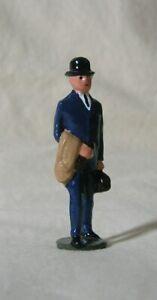 Edwardian Businessman in Bowler Hat, 1:32 train layout figure, Repro Johillco