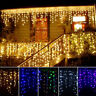 96 LED Wave String Fairy Lights Icicle Hanging Curtain Lamp Wedding Xmas Party