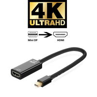 4K mini DP Displayport Thunderbolt zu HDMI Adapter 4096x2160 UHD 2160p mit Audio