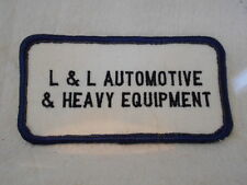 L & L AUTOMOTIVE & HEAVY EQUIPMENT USED  COMPANY SEW ON NAME PATCH  TAG