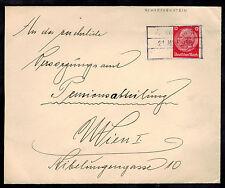 1938 Schreckenstein Germany Sudetenland Provisional Cover to Vienna