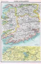 L'Irlanda sughero e di Killarney-antico carta 1902 da Bartolomeo