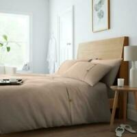 Waffle Duvet Cove Hotel Quality Polycotton Easy care  Solid Quilt Set All Sizes