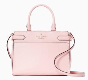 New Kate Spade New York Staci Medium Satchel Leather Light Crepe (pink)