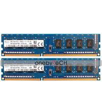 For Hynix 4GB 2x2GB PC3-12800U DDR3-1600 240pin CL11 UNBUFFERED NON-ECC Memory