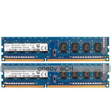 Hynix 4GB 2x2GB 1Rx8 PC3-12800U DDR3-1600 240 PIN CL11 UNBUFFERED NON-ECC Memory