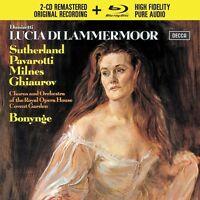 LUCIA DI LAMMERMOOR - PAVAROTTI/SUTHERLAND/ROHO/BONYNGE/+  2 CD+BLU-RAY NEUF