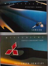 1995 MITSUBISHI CC LANCER Australian Owners Manual and Service & Warranty Book
