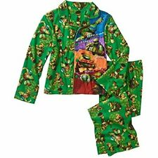 Nickelodeon Teenage Mutant Ninja Turtles Flannel Coat Pajama Set, Size 8