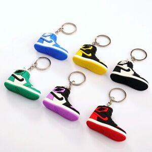 Nike Air Jordan 3D Sneaker Keyring Kids Men Women Party bag gift mini metalChain