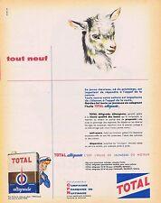 PUBLICITE ADVERTISING 114 1959 TOTAL Huile Altigrade
