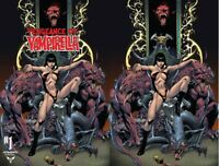 2x VENGEANCE OF VAMPIRELLA 1 CASTRO JETPACK /FORBIDDEN PLANET; VIRGIN Dynamite