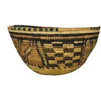 "Vintage Large Hausa Basket Coil Nigeria Basketry Tribe 10"" Excellent"