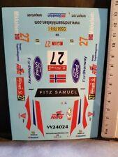 DECALS 1/24 FORD FOCUS WRC - #27 - MIKKELSEN - PORTUGAL 2007 - COLORADO VV24024