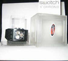 "DR. NO! Swatch SQUARE CHRONO ""007"" JAMES BOND with DATE! NIP-RARE!"