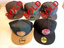 2 X NEW ERA GENUINE 59FIFTY 7 3/8, 58.7cm FITTED HAT COLLECTION caps