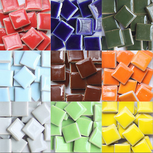 23pcs Vitreous Ceramic Mosaic Tiles Wall Crafts 100g Various Mixes Optic Drops