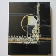 MYSTERY ARTIST CONTEMPORARY PAINTING COLLAGE ASSEMBLAGE ABSTRACT MODERNISM