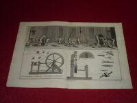 ENCYCLOPEDIE DIDEROT ARTS & METIERS / CORDERIE 1 / PLANCHE DOUBLE GRAVEE 18e