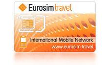 "NO TERM INTERNATIONAL ROAMING PREPAID SIM CARD ""EUROSIM TRAVEL"" AIRTIME 10 USD"