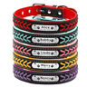 Hundehalsband Namen Telefon Gravur Personalisiert Halsband 5Farben XS S M L XL