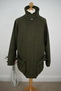 BARBOUR Green Loden Shooting Coat Size XL 44/46 54/56 Mr Porter Schoffel  XXL