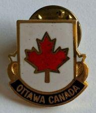 Vintage Ottawa Ontario Canada Lapel Pin Maple Leaf Capital Travel Souvenir