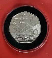 LARGE 1994 D.DAY LANDINGS PROOF BU 50P FIFTY PENCE COIN OLD STYLE FROM SET