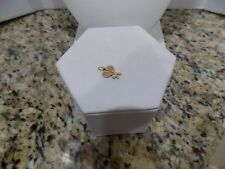 14k Yellow Gold Double Tennis Rackets Cultured Pearl Charm