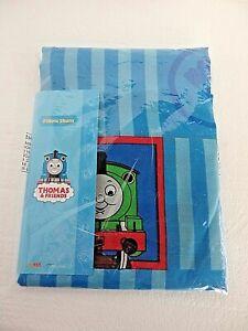 THOMAS & FRIENDS Standard Sham Pillowcase Striped Blue Train 20 x 26 Dan River