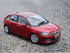 1/18 Scale Citroen C-Quatre 2012 Red Diecast Car Model Toy Collection Gift