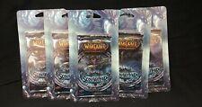 5x Wow World of Warcraft Scourgewar Booster Packs Factory Sealed!
