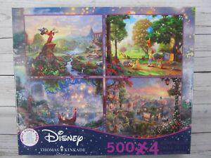 Thomas Kinkade - Disney Puzzles 4 in 1 Fantasia Tangled Winnie Pooh Lady Tramp