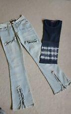 Schlaghose  Jeans  destroyed  🌟 neuwertig🌟S🌟 Vintage original 90ger